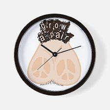 Grow a Pair for Peace Wall Clock