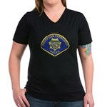 South S.F. Police Women's V-Neck Dark T-Shirt