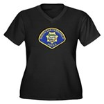 South S.F. Police Women's Plus Size V-Neck Dark T-