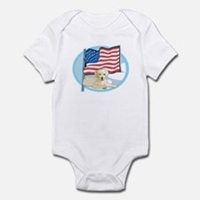 Patriotic Yellow Lab Infant Bodysuit