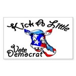 Democrat Rectangle Sticker