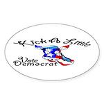 Democrat Oval Sticker