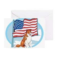 Patriotic Collie Greeting Cards (Pk of 10)