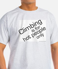 Hot Climbers Ash Grey T-Shirt