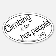 Hot Climbers Oval Decal