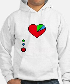 My heart friends, family Red poi Hoodie