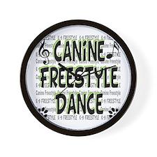 K9 Freestyle Dance Wall Clock