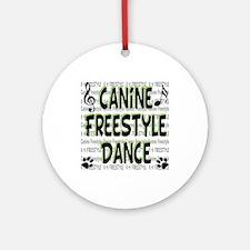 K9 Freestyle Dance Ornament (Round)
