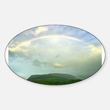Rainbow over Knocknara, Irela Oval Decal