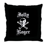 Skull and cross bones Throw Pillow