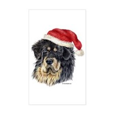 Christmas Tibetan Mastiff Rectangle Decal