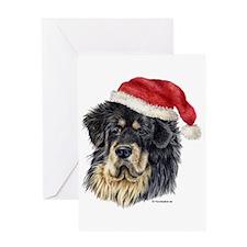 Christmas Tibetan Mastiff Greeting Card