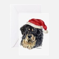 Christmas Tibetan Mastiff Greeting Card