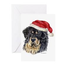 Christmas Tibetan Mastiff Greeting Cards (Pk of 20