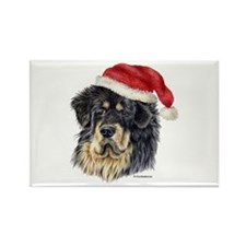 Christmas Tibetan Mastiff Rectangle Magnet