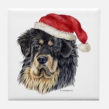 Christmas Tibetan Mastiff Tile Coaster