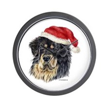 Christmas Tibetan Mastiff Wall Clock