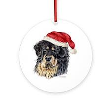 Christmas Tibetan Mastiff Ornament (Round)