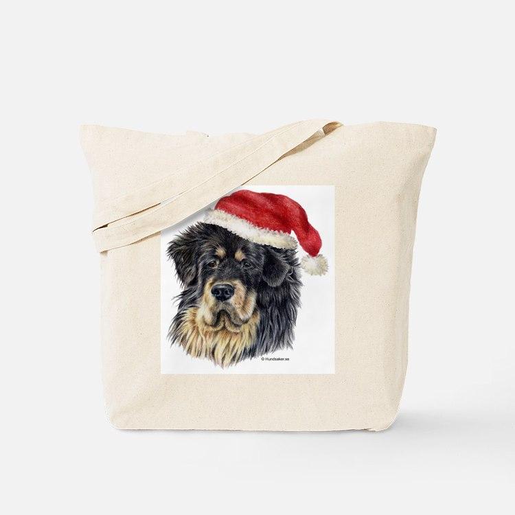 Christmas Tibetan Mastiff Tote Bag