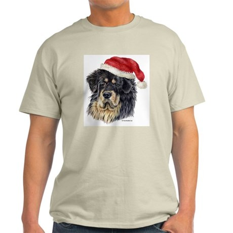 Christmas Tibetan Mastiff Light T-Shirt
