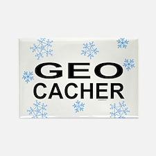 Snow Geocacher Rectangle Magnet