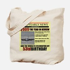 53 birthday Tote Bag