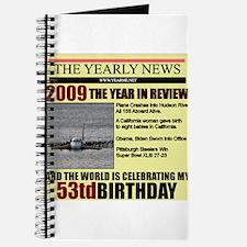 53 birthday Journal
