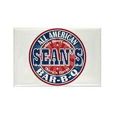 Sean's All American Bar-b-q Rectangle Magnet