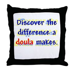 Discover the Difference/ Doul Throw Pillow