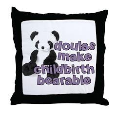 Doulas make childbirth bearab Throw Pillow