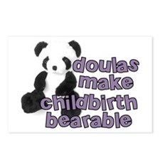 Doulas make childbirth bearab Postcards (Package o