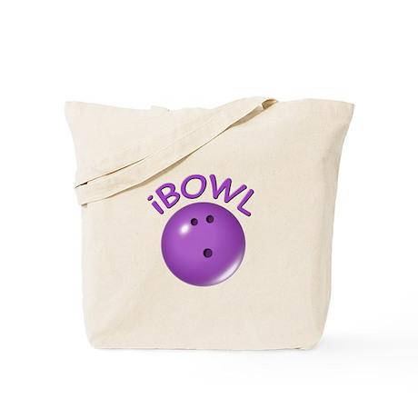 I Bowl (purple) Tote Bag