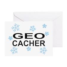 Snow Geocacher Greeting Card