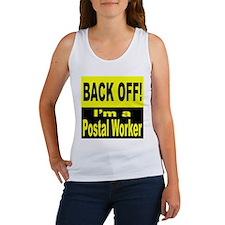 Back Off I'm a Postal Worker (Front) Women's Tank