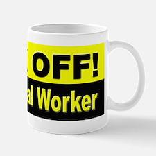 Back Off I'm a Postal Worker Mug