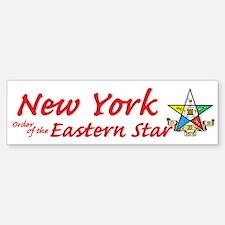 New York Eastern Star Bumper Bumper Bumper Sticker