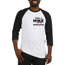 Geocache Hike Pocket Area Baseball Jersey
