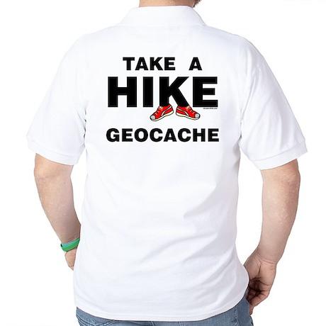 Geocache Hike (Back) Golf Shirt