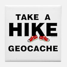 Geocache Hike Tile Coaster