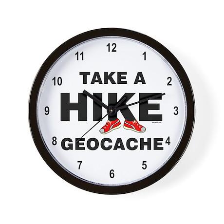 Geocache Hike Wall Clock