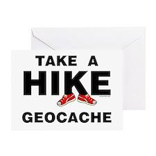 Geocache Hike Greeting Card