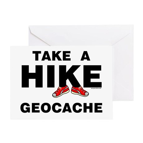 Geocache Hike Greeting Card