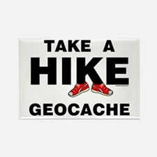 Geocache Hike Rectangle Magnet