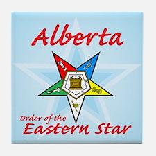 Alberta Eastern Star Tile Coaster
