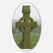 Irish Cross Oval Decal