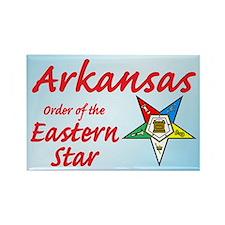 Arkansas Eastern Star Rectangle Magnet