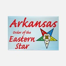 Arkansas Eastern Star Rectangle Magnet