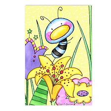 Bug In Flower Garden Postcards (Package of 8)