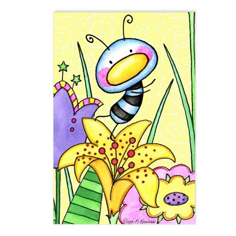 Bug In Flower Garden Postcards (Package of 8)