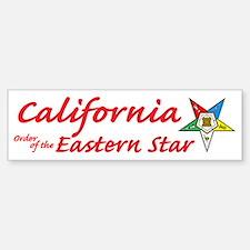 California Eastern Star Bumper Bumper Bumper Sticker